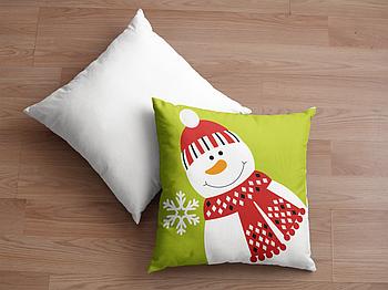 Декоративная подушка для сублимации с новогодним принтом 35х35см. NP027