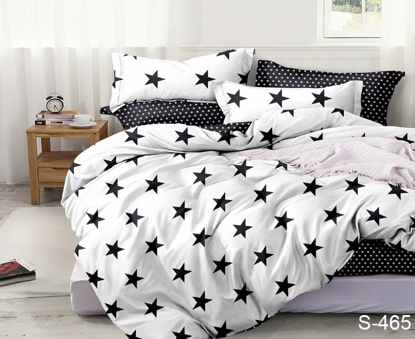 Полуторный  комплект постельного белья Сатин Люкс с компаньоном S465