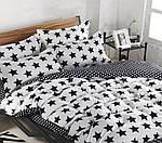 Полуторный  комплект постельного белья Сатин Люкс с компаньоном S465, фото 2