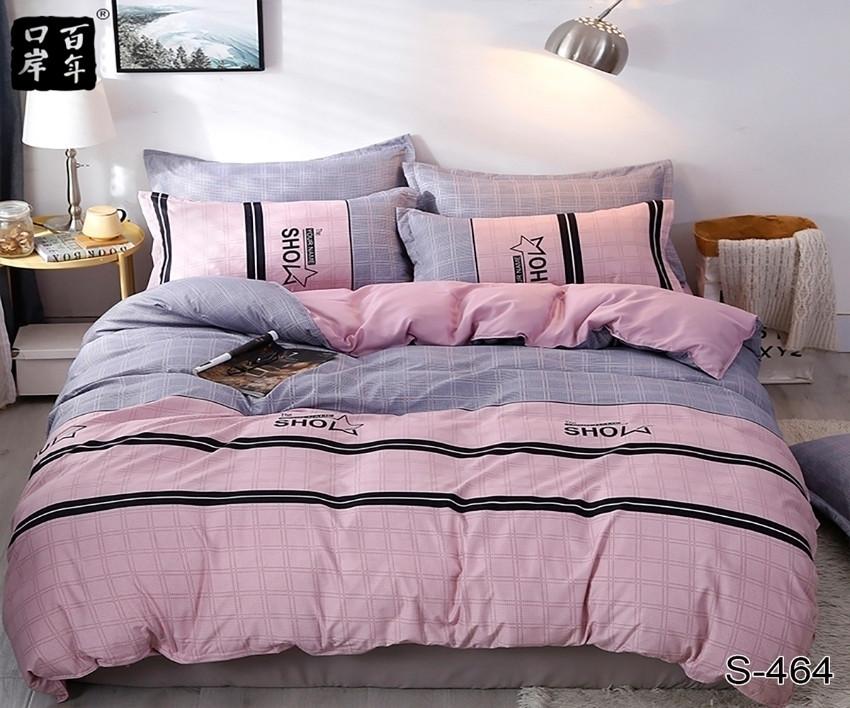 Двуспальный  комплект постельного белья Сатин Люкс с компаньоном S464