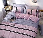 Двуспальный  комплект постельного белья Сатин Люкс с компаньоном S464, фото 2