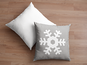 Декоративная подушка для сублимации с новогодним принтом 35х35см. NP030