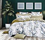 Двуспальный Евро комплект постельного белья Сатин Люкс с компаньоном S453, фото 5