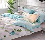 Двоспальний Євро комплект постільної білизни Сатин Люкс з компаньйоном S455, фото 3