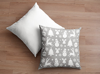 Декоративная подушка для сублимации с новогодним принтом 35х35см. NP031