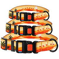 Ошейник для cобак Travel нейлоновый c пластиковой пряжкой Пустыня
