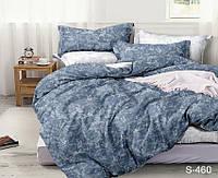 Двуспальный ЕВРО МАКСИ комплект постельного белья Сатин Люкс с компаньоном S460