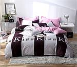 Двуспальный ЕВРО МАКСИ комплект постельного белья Сатин Люкс с компаньоном S463, фото 4