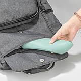 Слюнявчик силиконовый с карманом Розовый, фото 4