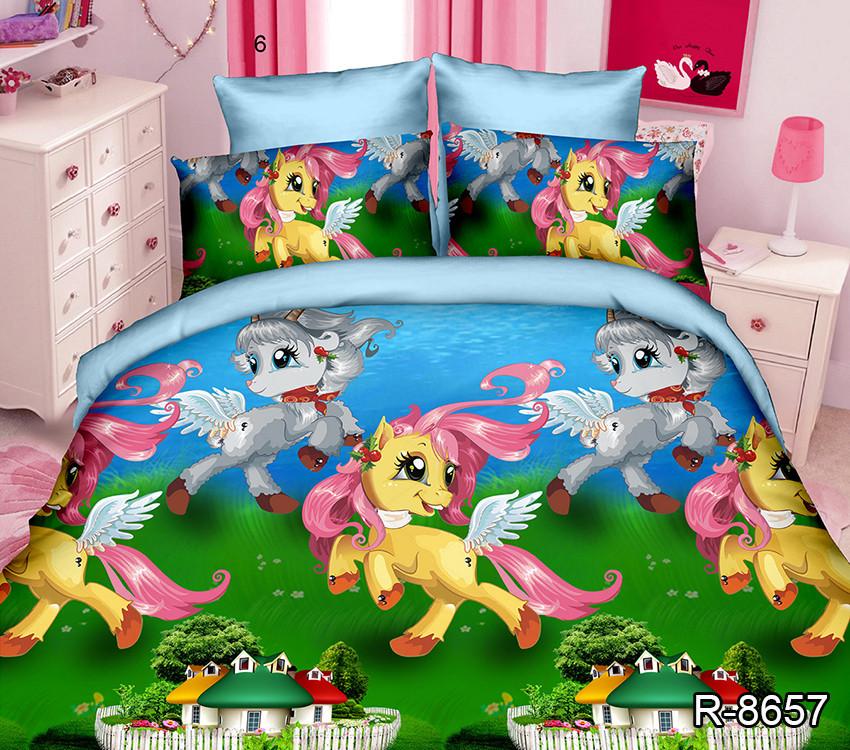 Полуторный Евро  комплект постельного белья для детей R8657