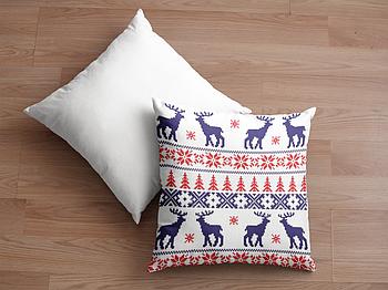 Декоративная подушка для сублимации с новогодним принтом 35х35см.NP034