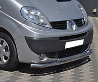 Кенгурятник двойной ус на Renault Trafic ( c 2001--) Рено Трафик PRS