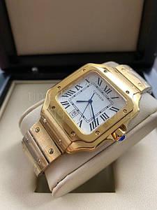 Мужские наручные часы Картье Сантос Люкс копия