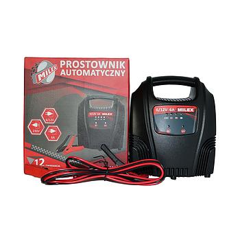 Зарядное устройство автомобильного аккумулятора 6А 6-12V MILEX PA-61260