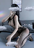 Сексуальна боді сітка сексуальная боди-сетка с рисунком эротическое белье, фото 4