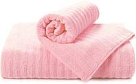 ТМ TAG Полотенце махровое Volna розовое