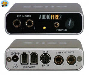 Аудиоинтерфейс Echo Audiofire 2 FireWire 4х6