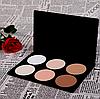 Матирующие сухие корректоры  /сухие скульптурирующие корректирующие пудры 6 цветов с логотипом