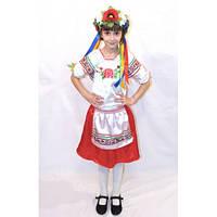 Прокат. Детский национальный костюм для девочки Украиночка 2, р.116-122
