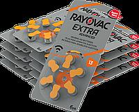 Rayovac - Батарейки к слуховым аппаратам - типоразмер 13 (блистер - 6 шт.)