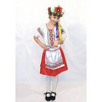 Прокат. Детский национальный костюм для девочки Украиночка 1, р.116-122