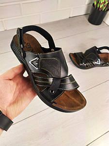 """Босоніжки чоловічі, чорні """"Aters"""" еко шкіра, сандалі чоловічі, взуття річна чоловіча 1303321085"""
