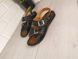 Босоножки мужские, черные, шлепки, эко кожа, сандалии мужские, обувь летняя мужская