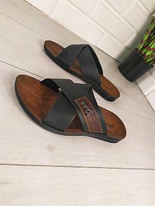 Шлепанцы мужские, черные,эко кожа, шлепки мужские, тапочки мужские, вьетнамки мужские, обувь летняя