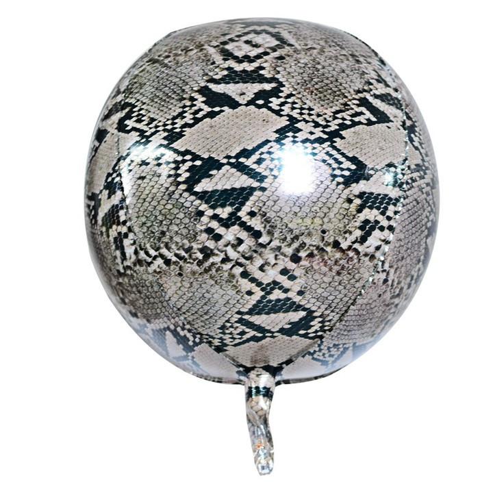 """Фольгована кулька 4D сфера пітон 22"""" (55см) Китай"""