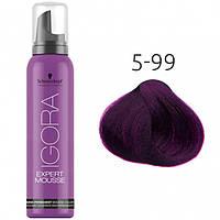 Тонирующий мусс для волос Schwarzkopf Professional Igora Expert Mousse, 100 мл 5-99 Светло-коричневый фиолетовый экстра