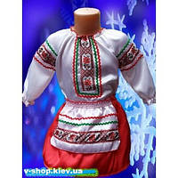 Детский национальный костюм для девочки Украиночка-малышка на 3-4 года S