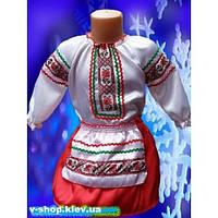 НА ПРОКАТ  Детский национальный костюм для девочки Украиночка-малышка на 3 года