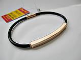 Золотой каучуковый браслет Общий вес - 5.11 г. Длина - 19.5 см. Золото 585 пробы, фото 2