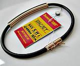 Золотой каучуковый браслет Общий вес - 5.11 г. Длина - 19.5 см. Золото 585 пробы, фото 5