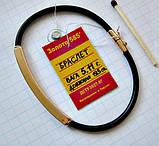 Золотой каучуковый браслет Общий вес - 5.11 г. Длина - 19.5 см. Золото 585 пробы, фото 6