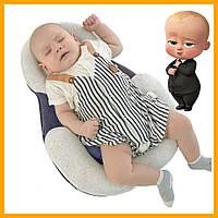 Подушка для новорожденных Baby Sleep Positioner кокон позиционер Подушка для младенцев Синяя