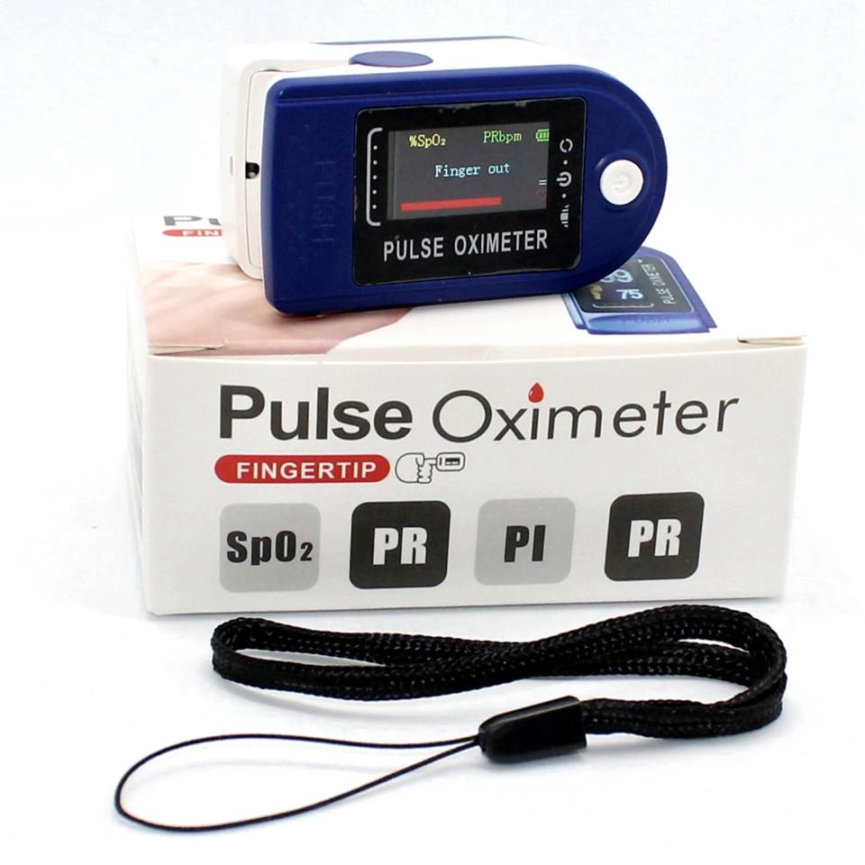 Пульсометр оксиметр на палец для контроля пульса SpO2 Электронный пульсоксиметр медицинский напалечный