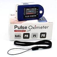 Пульсометр оксиметр на палец для контроля пульса SpO2 Электронный пульсоксиметр медицинский напалечный, фото 1