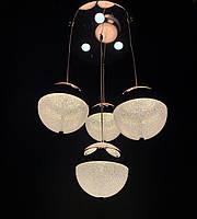 Современная светодиодная люстра хром на 4 подвеса 60W, фото 1
