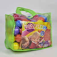 """Гр Шарики """"80 мм мягкие"""" 12024 (3) в сумке 100 шт. """"M-TOYS"""""""