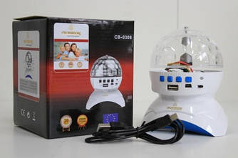 Диско шар Rechargeable  CB-0308 Magic Ball LED Bluetooth MP3 USB
