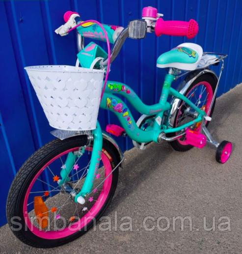 """Детский велосипед для девочки 16"""" FORMULA FLOWER 2020"""