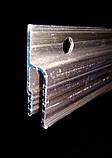 Профіль алюмінієвий для натяжних стель - h-подібний, перфорований, 160 грам. Довжина профілю 2,5 м., фото 4