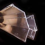 Профиль алюминиевый для натяжных потолков - двухуровневый №2, с изменённым углом. Длина профиля 2,5 м., фото 4