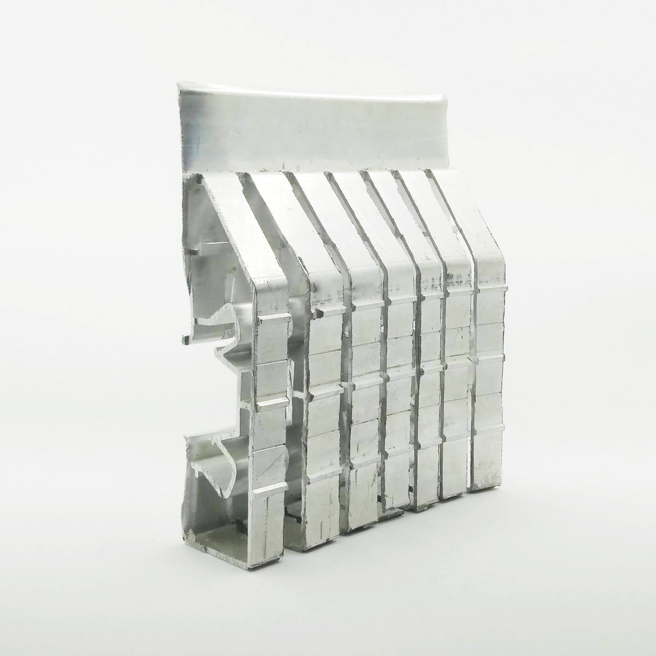 Профиль алюминиевый для натяжных потолков - двухуровневый ПЛ-75, с подсветкой, с пропилами. Длина профиля 2,5