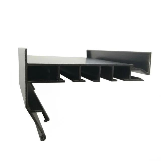 Профиль Гардина в Черном цвете для натяжных потолков. Трехполосный. С крючками для штор. Длина профиля 3,2 м.