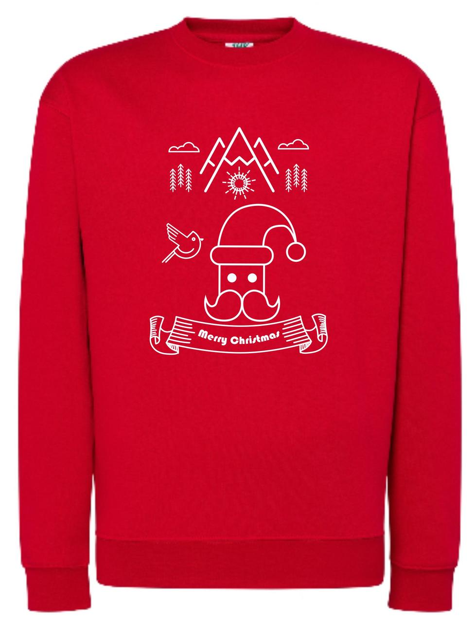 Реглан унісекс Merry Christmas red