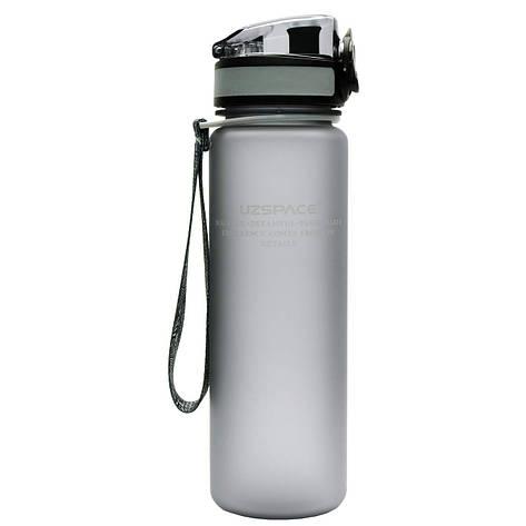 Бутылка для воды UZspace Grey (500 мл.) - Серый, фото 2