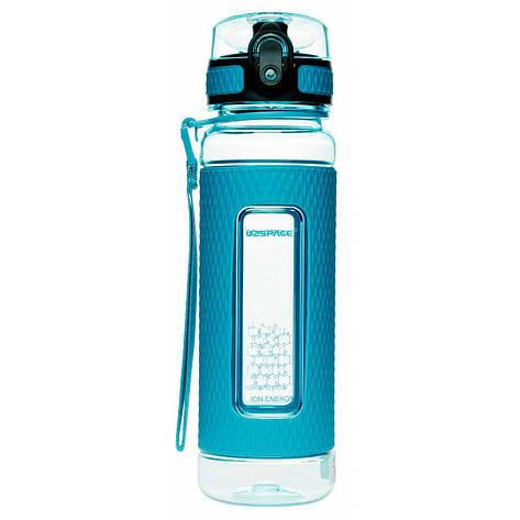 Пляшка для води UZspace Diamond Blue (450 мл) - Блакитна, фото 2