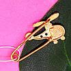 Золотая булавка для мальчика Вертолет - Детская золотая булавочка для мальчика, фото 2